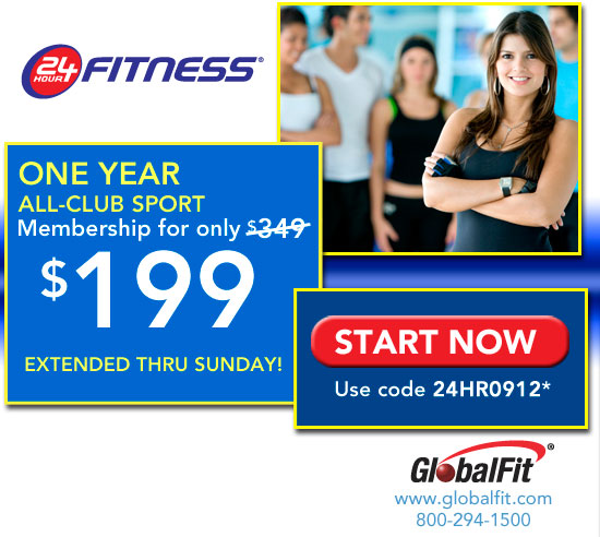 24 Hour Fitness can help you achieve your dream body and exceed your fitness goals through their powerful and motivating exercise programs and quality gym equipment. Use this promotion to receive 50% off initiation fees for new members.